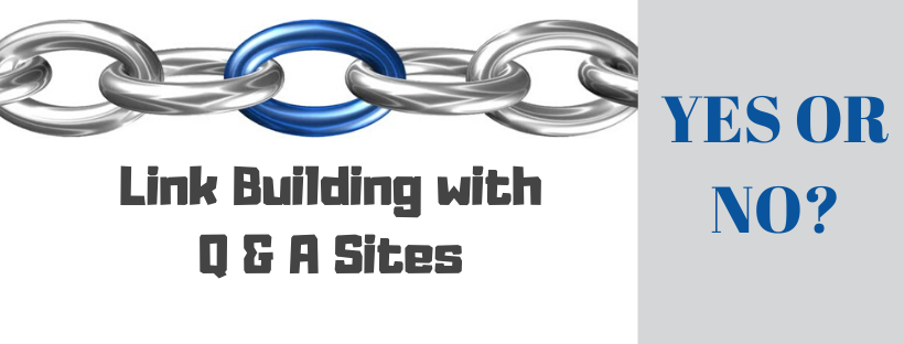 Building Links Using Q&A Sites